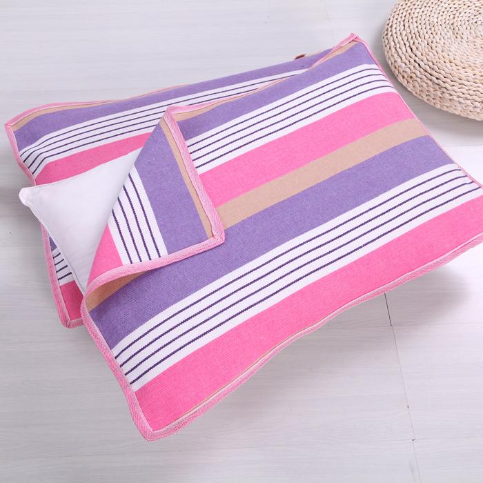 Cũ vải thô gối khăn dày mã hóa để tăng bông vải gối khăn gối khăn đặc biệt duy nhất ký túc xá sinh viên cặp Khăn gối