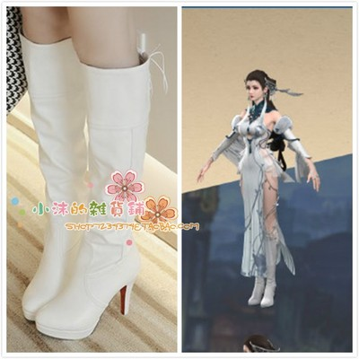 taobao agent Dream Tower Snow Mystery Lost City cosplay shoes boots Bai Yijun cosply shoes boots