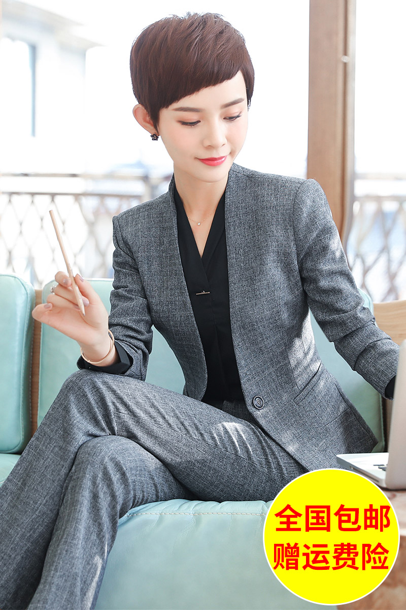 Phù hợp với phù hợp với nữ mùa xuân và mùa thu 2018 mới thời trang đẹp trai nhỏ phù hợp với kinh doanh trang phục phù hợp với nữ overalls đen