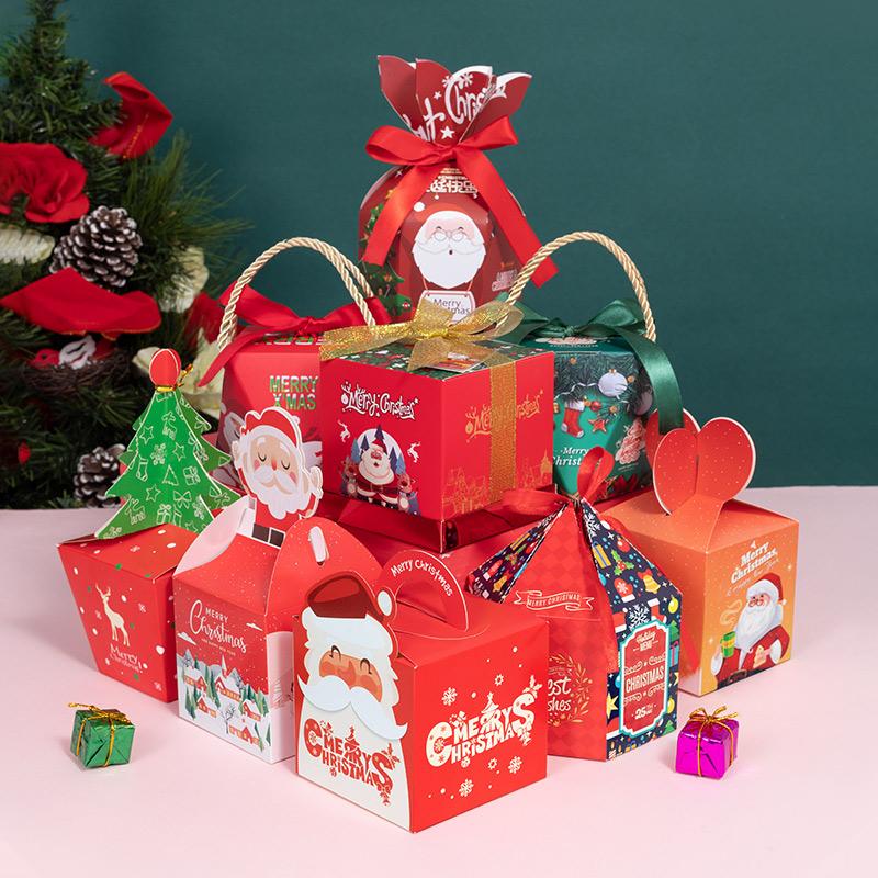 苹果盒圣诞节盒子礼物礼盒圣诞夜平安夜包装盒平安果糖果儿童创意