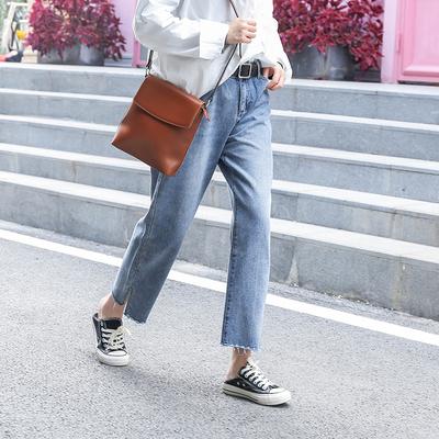 200斤大码女装洋气牛仔裤适合胯宽大腿粗的胖mm最爱显瘦直筒裤子