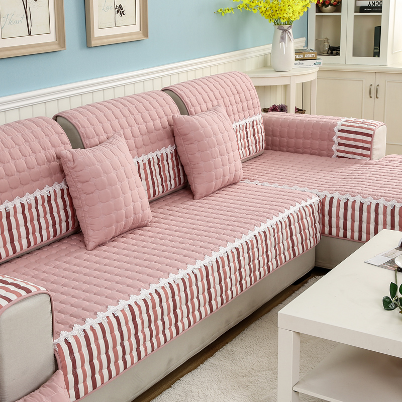 四季沙发垫布艺防滑坐垫简约现代客厅-优惠券5元淘宝包邮