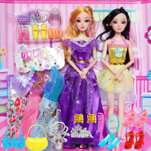 別墅城堡洋娃娃套裝大禮盒女孩公主兒童玩具