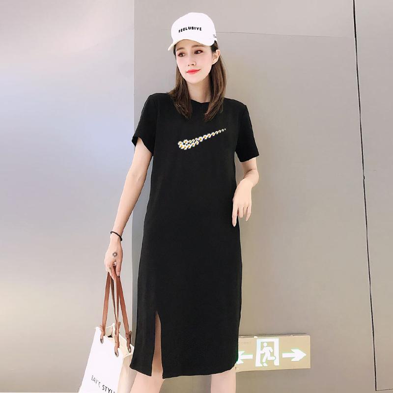 【小雏菊联名款】中长款t恤裙韩版连衣裙