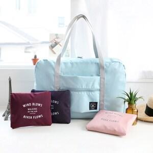Túi du lịch xách tay nữ di động gấp lưu trữ túi dung lượng lớn túi duffel túi thể dục nam có thể kéo xe đẩy hành lý