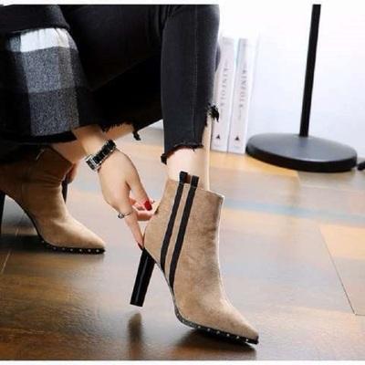 女鞋2019新款秋鞋布鞋平底韩版格子高帮帆布鞋系带休闲板鞋女鞋