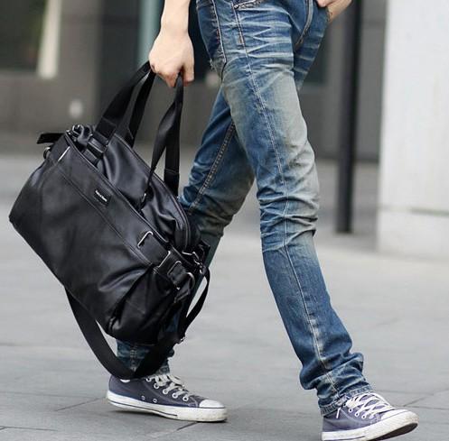 欧美休闲时尚男士手提包 新款男包 商务旅游单肩斜跨背包