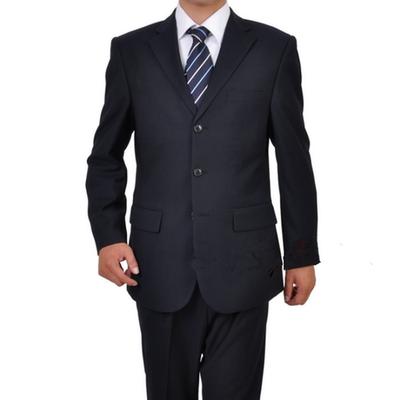 Cộng với kích thước phù hợp với nam giới Quần yếm màu xanh Tây Tạng phù hợp với nam giới kinh doanh bình thường trang phục chuyên nghiệp ăn mặc mỏng - Suit phù hợp