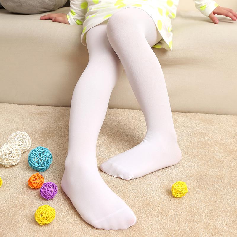 踩脚肉色连裤袜女童打底裤
