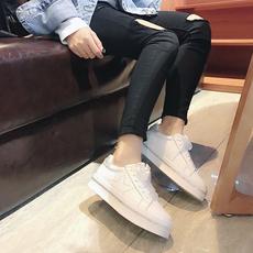 春季2018新款小白鞋女鞋ulzzang低帮板鞋 韩版厚底真皮运动休闲鞋