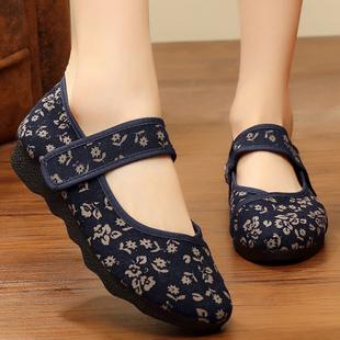 女式的老北京布鞋女新款大号老年人软底鞋41大码女鞋43平底太太鞋