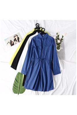 Mùa hè mới của phụ nữ Han Fan đầy đủ đơn ngực lỏng ren dài tay thời trang đầm đầm EY váy đầm