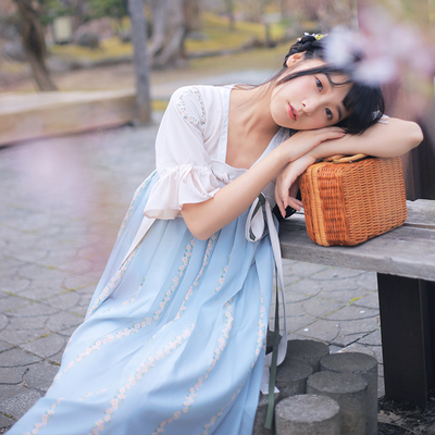 Xu Jiao Dệt Feather Set Gốc Trung Quốc Yếu Tố Trang Phục Phụ Nữ Mùa Hè Sản Phẩm Mới Mu Huaqing Thêu (Ăn Mặc) Sản phẩm HOT