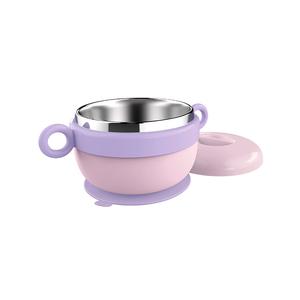 爸爸制造dodopapa宝宝注水保温碗儿童碗不锈钢婴幼儿辅食吸盘碗