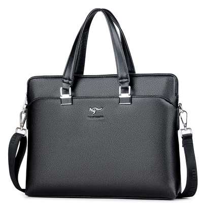 时尚精品男士手提包商务横款男包牛皮大包皮包A4纸文件电脑公文包