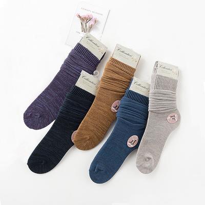 是堆堆袜也是中筒袜子 秋冬日系女款韩国学院风女袜复古文艺棉袜
