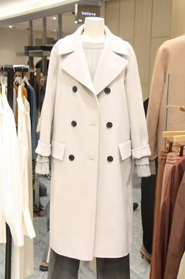 Dày ấm áo len của phụ nữ mùa thu và mùa đông phần dài mới 2017 Hàn Quốc phiên bản của ve áo tie áo len là mỏng Áo khoác dài