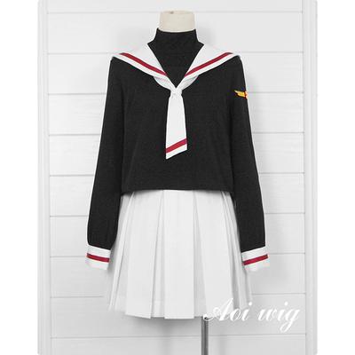 taobao agent AOI Card Girl Sakura Kinomoto Sakura Chishi School Uniform Sailor Uniform Cosplay Uniform