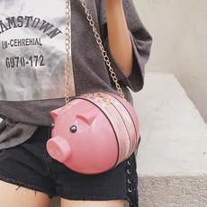 旺达实拍新款小猪单肩斜跨女包1917#