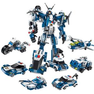 启蒙积木变形金刚儿童拼装玩具