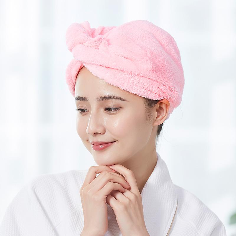 干發帽女吸水包頭巾長短發浴帽速干毛巾可愛擦頭發干發巾
