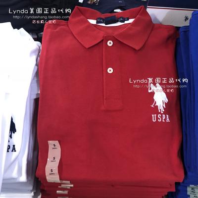 Lynda Hoa Kỳ chính tả mail CHÚNG TÔI POLO ASSN Malaysia nam cổ điển ve áo Polo áo sơ mi kinh doanh bình thường ngắn tay áo áo phông polo Polo
