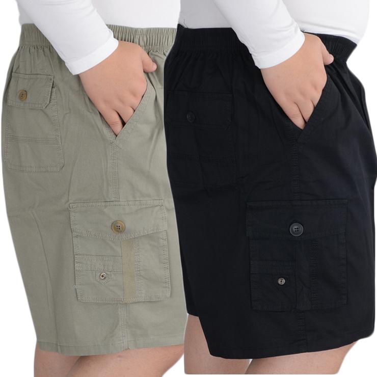Chất béo chất béo người đàn ông mùa hè cộng với chất béo XL lỏng squat năm quần quần chất béo quần đa túi dụng cụ quần short giản dị