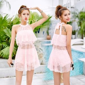 2018 bãi biển mới nữ cảm giác chia áo tắm bảo thủ mỏng giảm béo mặc bikini nhỏ hương thơm đồ bơi áo tắm