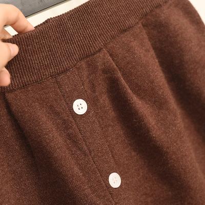 秋冬季新款港味复古chic高腰针织包臀半身裙女ins超火的裙子