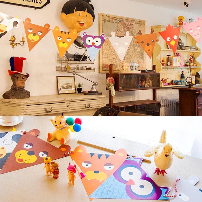 儿童生日派对装饰拉旗 卡通拉旗横幅 生日聚会道具挂旗拉条彩旗