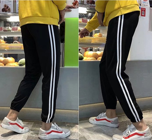 Chàng trai hợp thời trang quần Hàn Quốc phiên bản của quần hậu cung của người đàn ông chân quần Harajuku bf gió sinh viên thể thao quần hai thanh đồng phục học sinh quần
