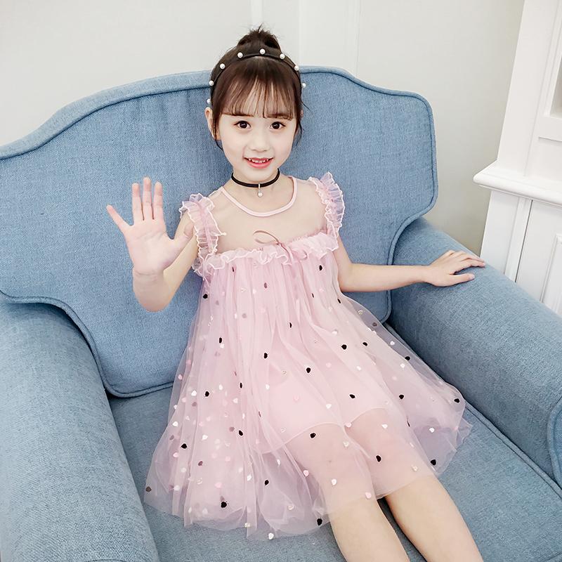 女童夏装2019新款儿童装洋气韩版连衣裙中大童公主裙女孩裙子夏季