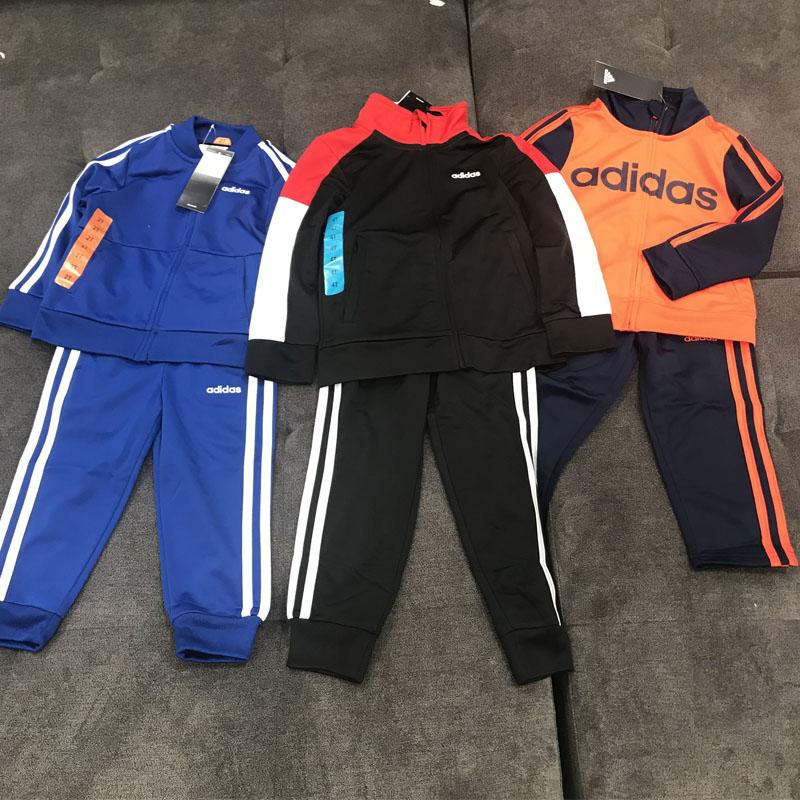 第123期團購、秋季將至!Adidas兒童長袖+長褲運動套裝