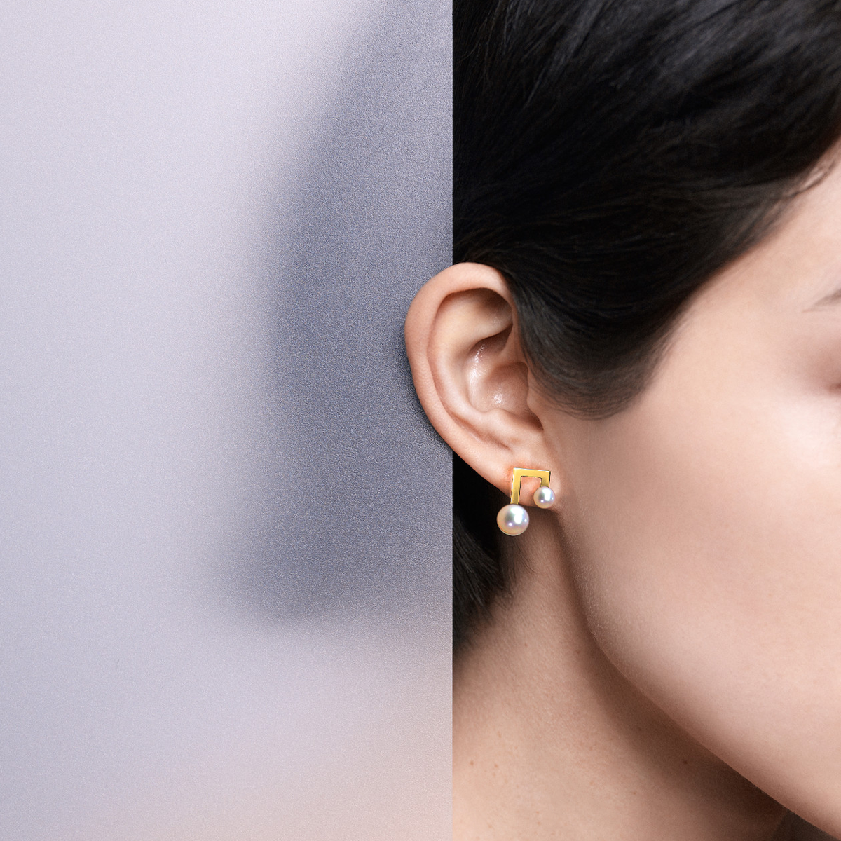 terra 情人节礼物耳钉女珍珠音符创业时代杨颖同款耳环925纯银