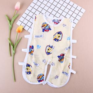 Bé bông lụa 琵琶 哈 哈 quần áo mùa hè bông nhân tạo không tay romper điều hòa không khí phù hợp với bông lụa rỗng bé quần áo