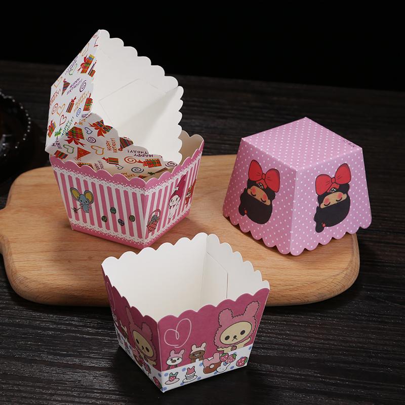 耐高温纸杯马芬蛋糕纸杯六角杯100个优惠券2元淘宝店铺包邮
