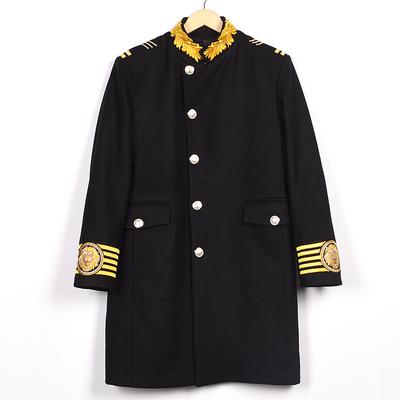 Thủy triều của nam giới áo gió thời trang giản dị lãnh chúa thêu đứng cổ áo len coat với cùng một phong cách cloak coat xz7001 Áo len