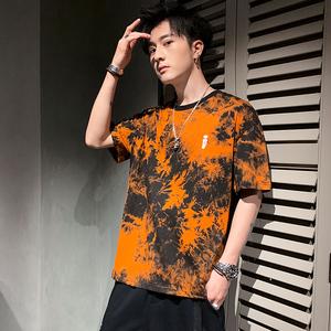 男士短袖T恤夏季宽松上衣休闲百搭五分袖