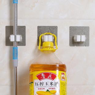浴室挂拖把的挂钩托把夹厕所免打孔免钉卫生间强力贴拖把扣无痕粘