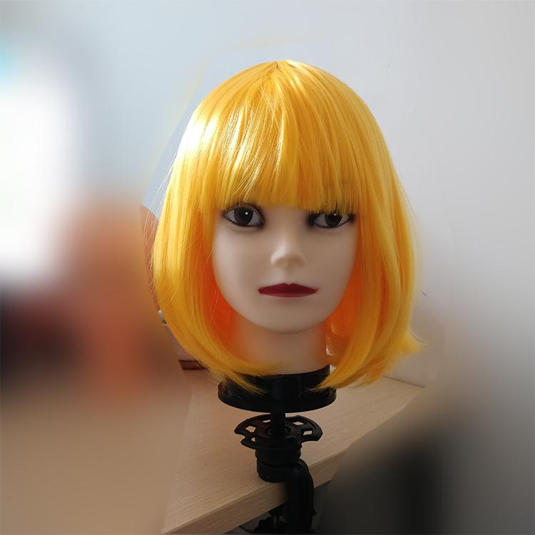 假发头模公仔模特头模型具软质小光头化妆美容练习假人头假发支架