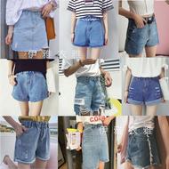 Nhà máy bán hàng trực tiếp quầy hàng bán buôn mùa hè của phụ nữ jeans Hàn Quốc thời trang nữ denim quần short quần chân rộng