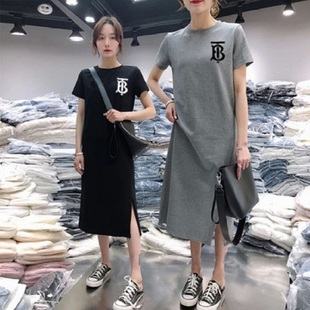 The same price 39.9 yuan, 2 women's mid length T-shirt skirt.