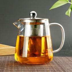 【淘宝内部优惠券】功夫茶具玻璃茶壶加厚耐热泡茶壶带过滤花茶壶红茶冲茶器套装水壶