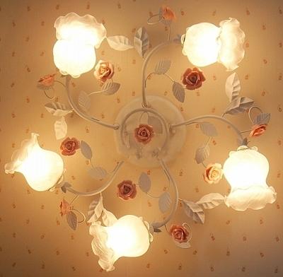 北欧美式田园吸顶灯客厅灯主卧室灯婚房温馨浪