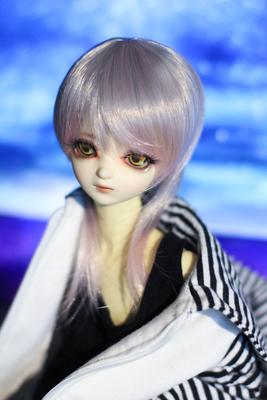 taobao agent Spot【Hua Ling】1/4BJD/MSD Wig, handsome mixed color and sassy boys medium long hair