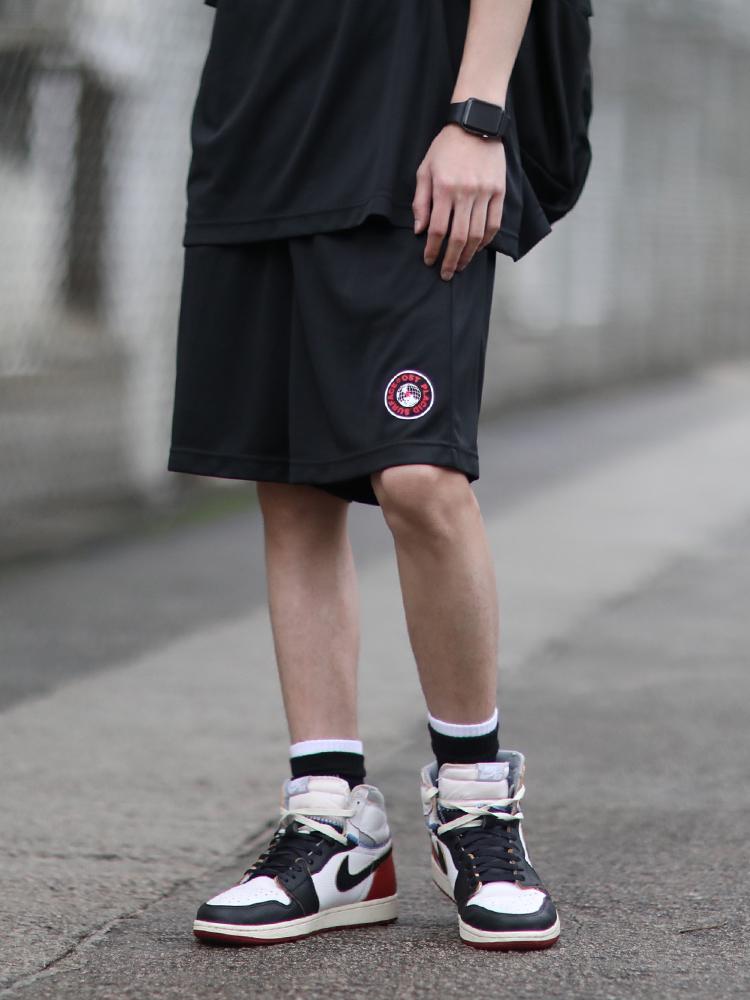 PSO Brand 19SS3 品牌印花舒适篮球裤休闲运动轻薄男女黑色短裤