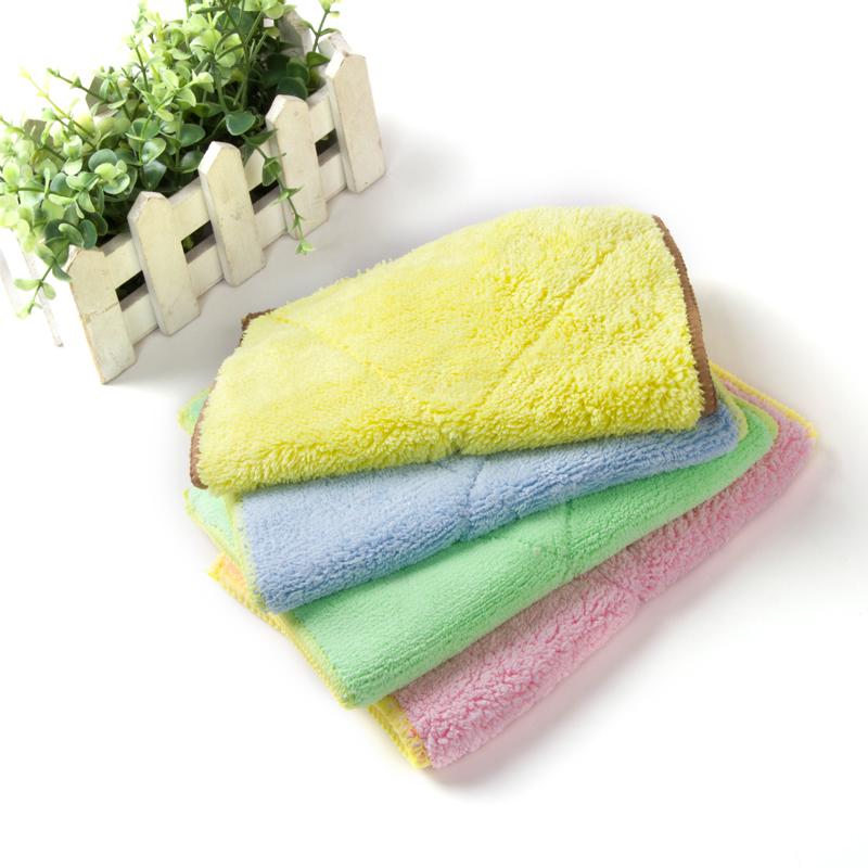 加厚洗碗布双面吸水不掉毛清洁抹布厨房洗碗巾不沾油清洁巾
