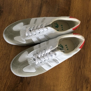 Đích thực Sơn Đông Lutai bóng chuyền giày gân dưới lưới giày thể thao chạy giày làm việc giày vải nhà máy giày cao su giày
