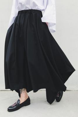 Thiết kế ban đầu tối loạt đơn giản vài mô hình siêu rộng chân bùng quần của người đàn ông thanh lịch váy quần chín điểm quần âu Áo khoác đôi