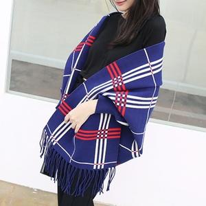 2016秋冬季新款大码女装针织开衫中长款流苏斗篷披肩毛衣外套女潮